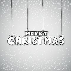 Merry Christmas Card hand style, vector
