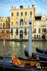 symbol of the Venice - Venetian gondolas