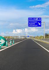 Asphalt freeway to Palma De Mallorca.