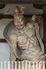 世界遺産法隆寺の仁王像阿形