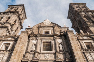 Puebla cathedral, Mexico