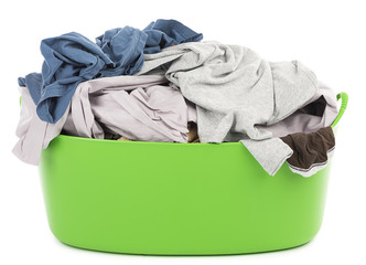 Basket with laundry