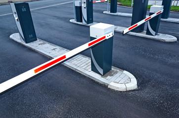 Parkplatzschranke – Schranke geschlossen - Closed Barrier