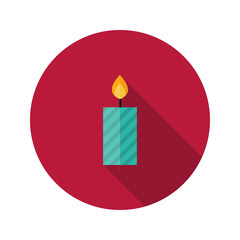 Christmas Stripped Candle Flat Icon