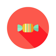 Christmas Candy Sweet Flat Icon