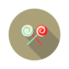Christmas Spiral Candy Stick Flat Icon