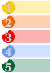 Five steps infographic template designed with circle labels