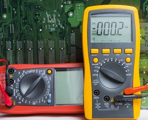 Multimeter. Instrument for measuring voltage