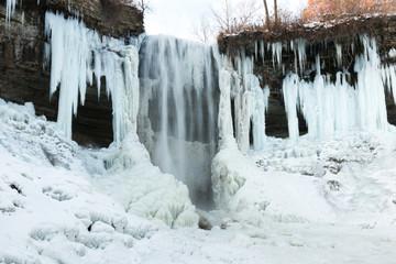 Frozen Minnehaha waterfall