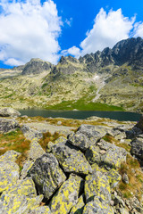 Summer landscape of Tatra Mountains in 5 lakes valley, Slovakia
