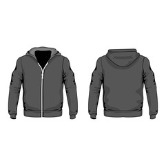 Men s hoodie shirts template front and back
