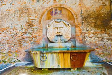 Drinking Fountain in Rome, Italy