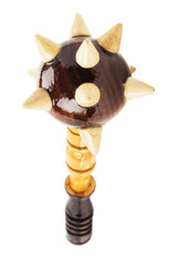 wooden mace isolated on the white background