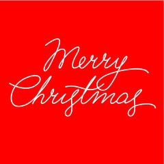 Merry Christmas Vector Calligraphic Lettering.