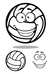 Happy cartoon volleyball ball character
