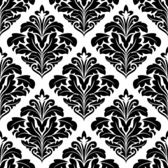 Bold floral arabesque seamless pattern