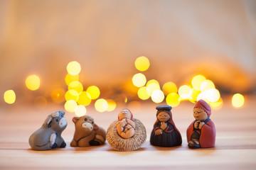 Presepe natalizio etnico