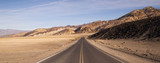 Lonely Long Highway Badwater Basin Death Valley