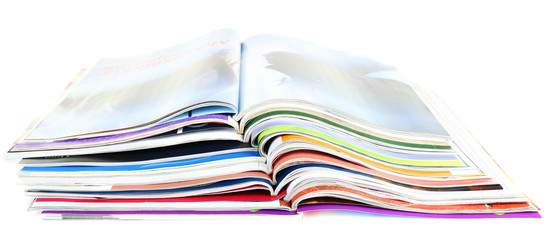 Magazines isolated on white