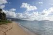 Sandy shoreline of Kahala Beach and the southern coastline of Oa
