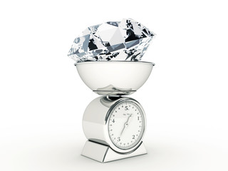 kitchen scale with giant diamond