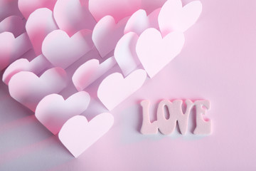 Beautiful applique paper with hearts