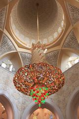 Abu Dhabi, United Arab Emirates - October 10,2014: Interior of t