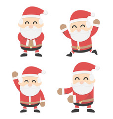 Santa Claus and different poses