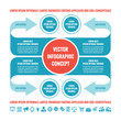 Business infographic concept - vector template illustration