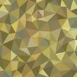 Geometric polygonal background - vector pattern. Khaki color.