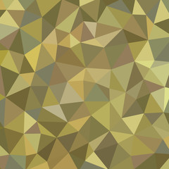 Geometric polygonal background - vector pattern. Khaki color.