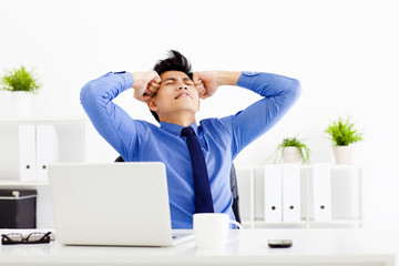 stressed businessman working in the office