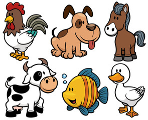 Vector illustration of Animals cartoon