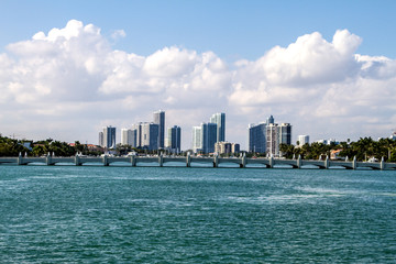 Miami coast.
