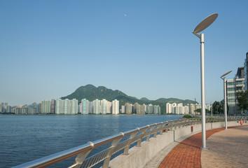 Seaside Promenade in Hong Kong