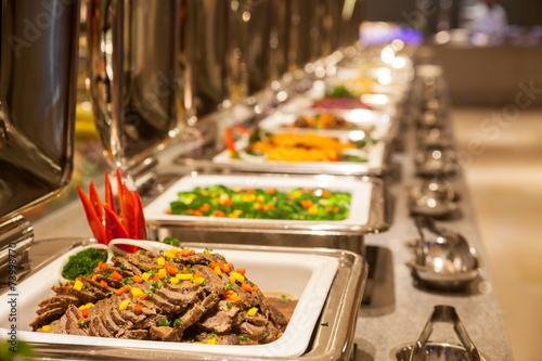 Keuken foto achterwand China Buffet restaurant