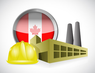 canada factory illustration design