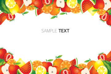 Mixed Fruits, Frame, Border