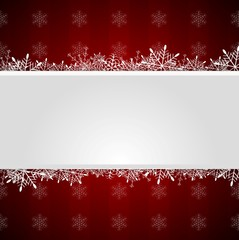 Red Christmas greeting background