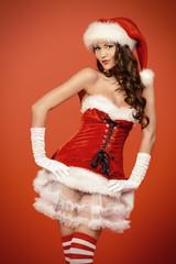 pretty santa lady