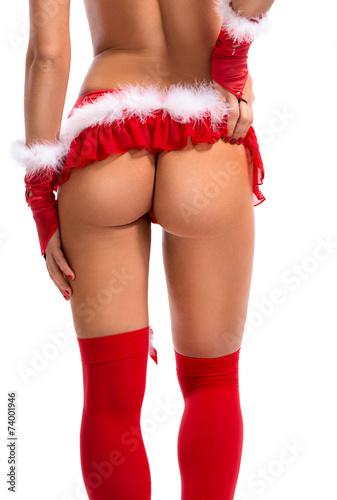 canvas print picture buttocks of Santa female