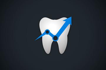 tooth arrow dentist up logo vector
