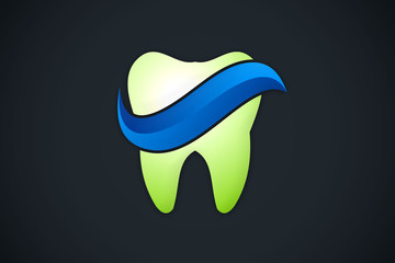 tooth dental abstract logo vector