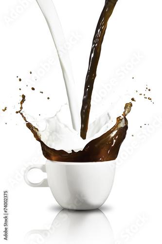 Canvas Cafe Coffee and Milk Splash
