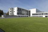 Bauhaus mit Rasenfläche poster