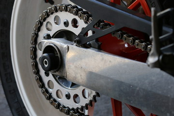 motorcycle wheel and drive