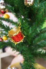 Decorative items on the Christmas tree