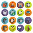 Tire service icon set - 74003792