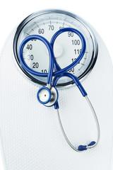 Stethoskop und Waage