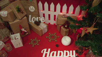 Happy New Year composition, holidays concept background